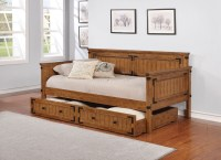 Rustic Honey Daybed from Coaster | Coleman Furniture