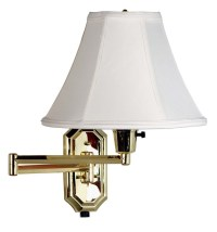 Nathaniel Polished Brass Wall Swing Arm Lamp from Kenroy