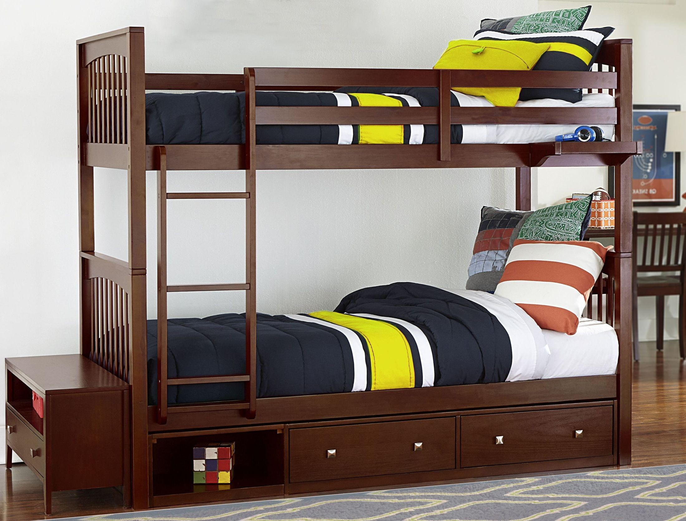 Pulse Cherry Youth Bunk Bedroom Set With Storage From Ne