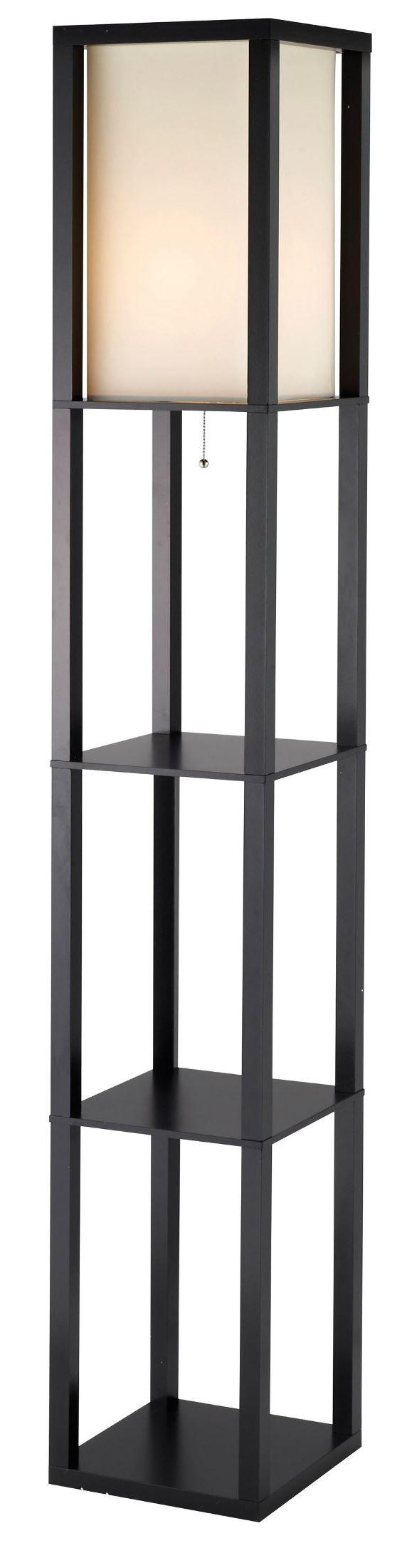 Titan Black Tall Shelf Floor Lamp from Adesso (3193