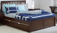Pulse Chocolate Mission Queen Panel Bed With Trundle ...