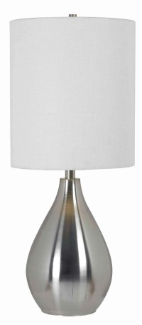Droplet Table Lamp from Kenroy (32156BS) | Coleman Furniture