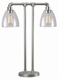 Steam Galvanized Metal Fitter Table Lamp, 32630GM, Kenroy Home