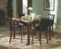 Achillea Faux Marble Counter Height Dining Room Set from ...