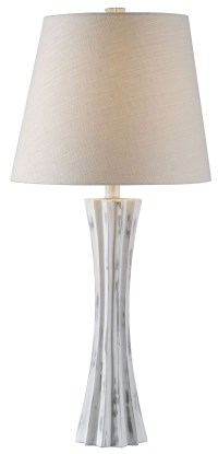 Cinch Distressed White Table Lamp, 32738DWH, Kenroy Home