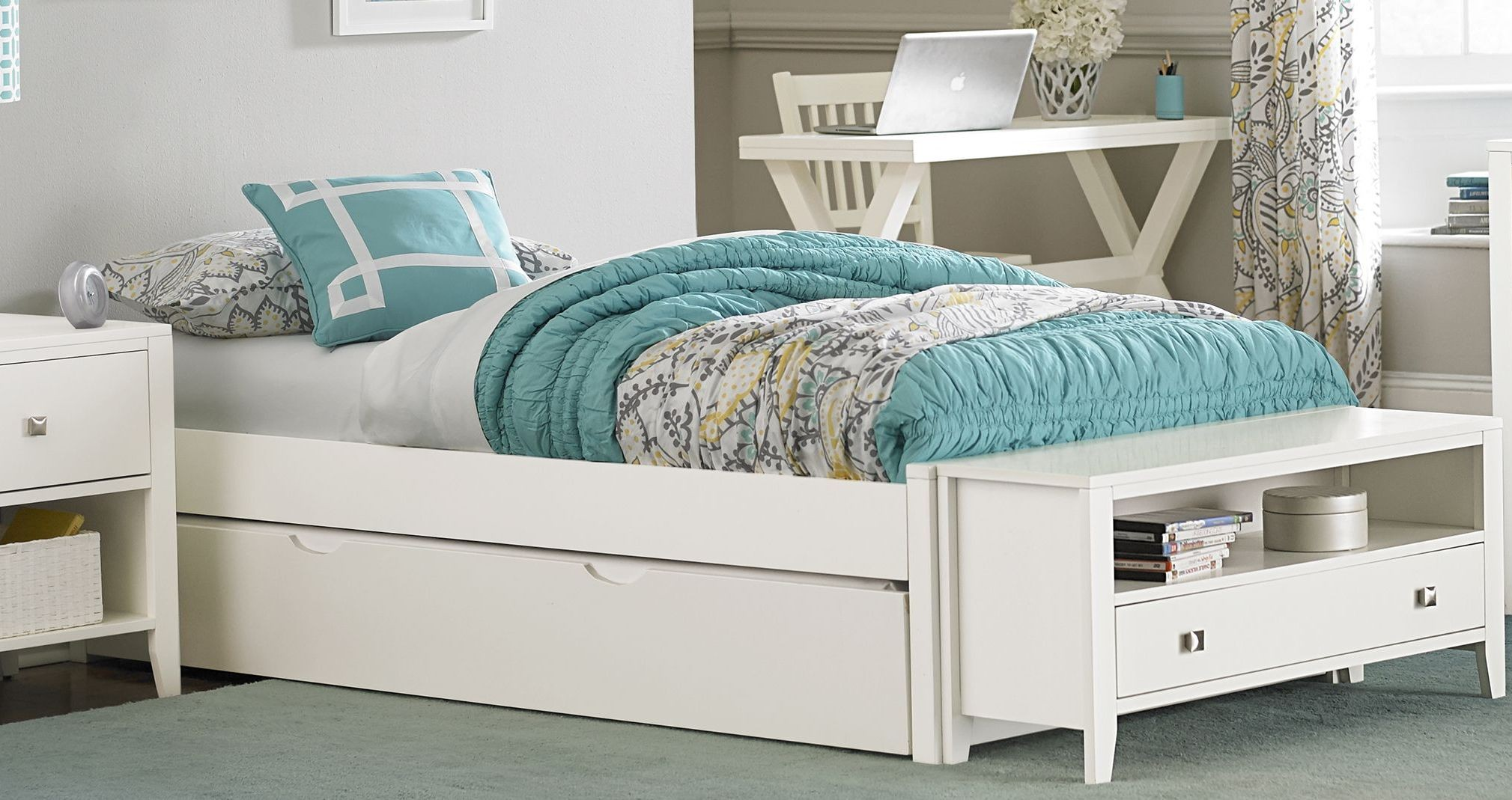 White Trundle Bed Pulse White Full Platform Bed With Trundle From Ne Kids