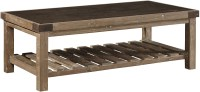 Bluestone Top Brown Coffee Table from Furniture Classics ...