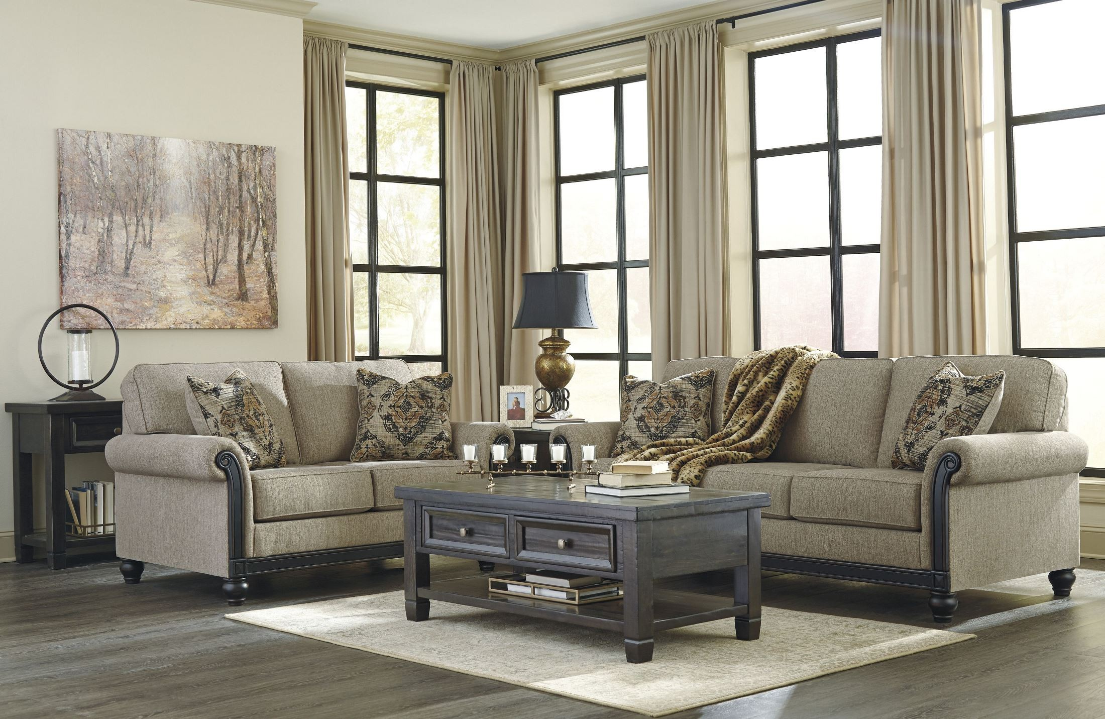 Sofa Taupe Blackwood Taupe Sofa 3350338 Ashley