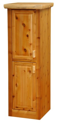 """Cedar 24"""" Right Hinged Linen Cabinet With 2 Single Doors ..."""