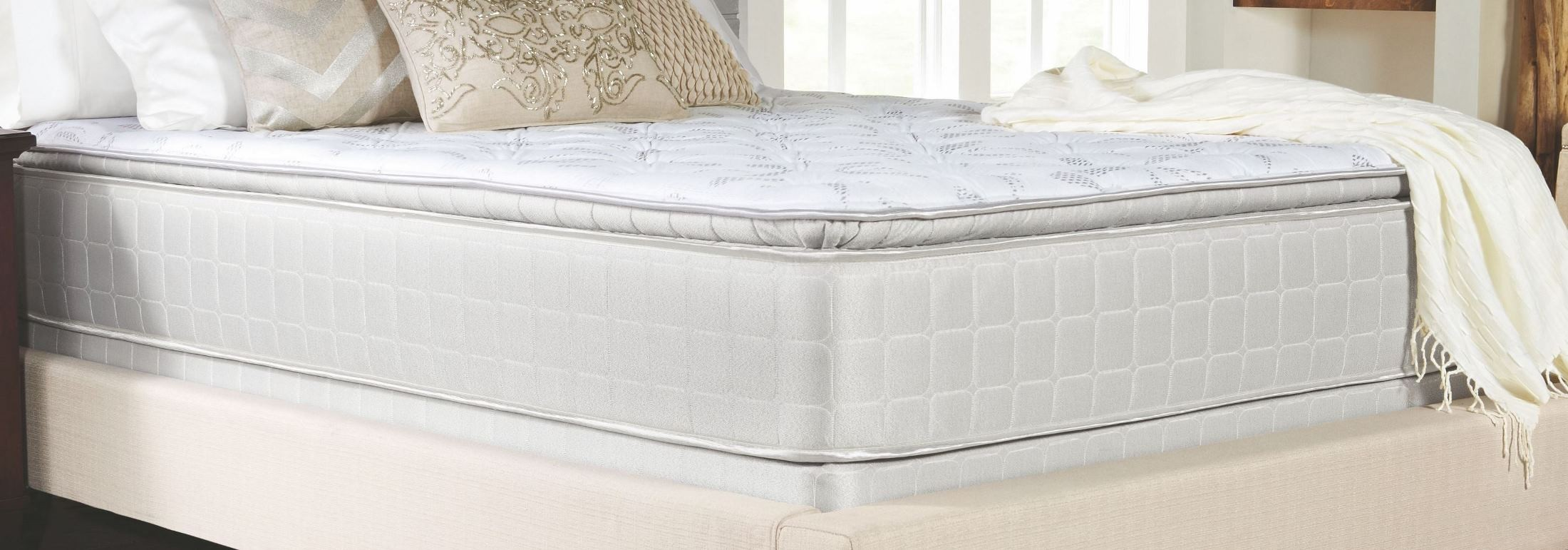 Pillow Top King Mattress Marbella Ii Gray Pillow Top King Mattress With Foundation