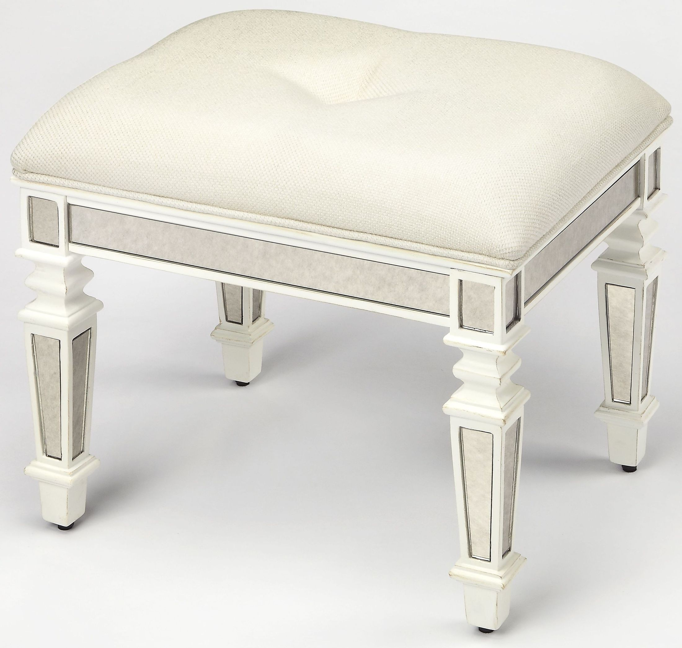 White Vanity Bench Seat Berkshire White Vanity Stool From Butler Coleman Furniture