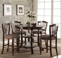 Bixby Espresso Round Counter Height Dining Table from New ...