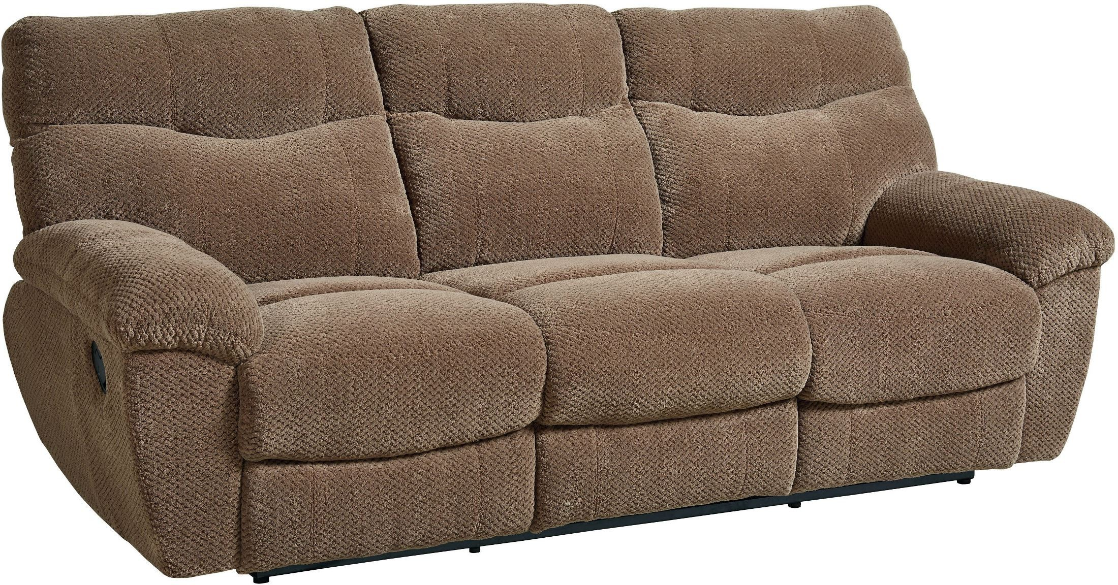 Sofa Taupe Escapade Taupe Brown Reclining Sofa From Standard