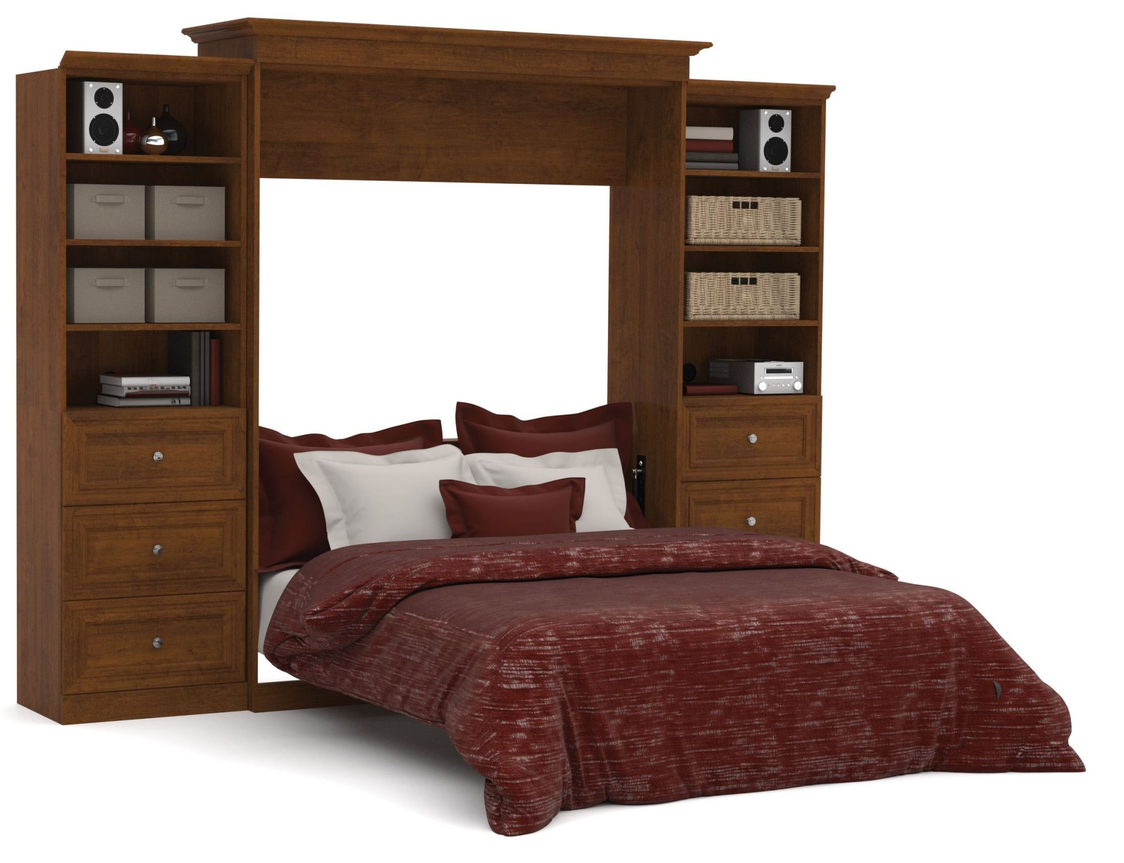 Versatile Tuscany Brown 1153939 Drawer Storage Queen Wall