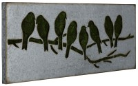 Galvanized Metal Sparrow Wall Art I, 41015, Cooper Classics