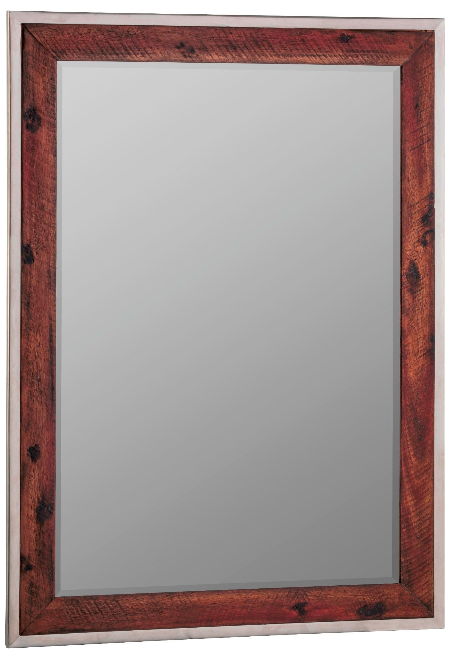 Clovis Stainless Steel Frame Mirror, 41076, Cooper Classics