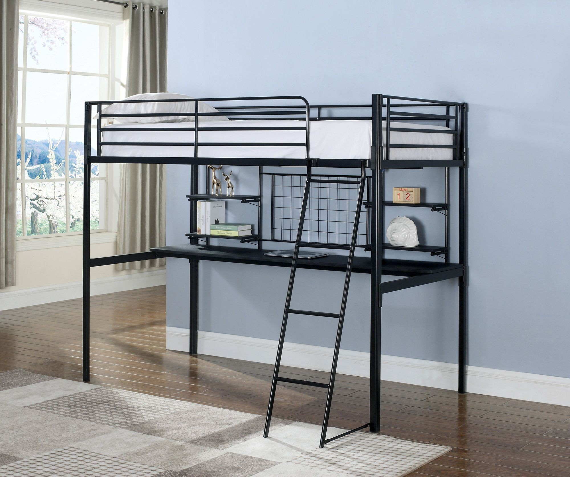 Black Loft Bed Boltzero Black Twin Loft Bunk Bed From Coaster Coleman