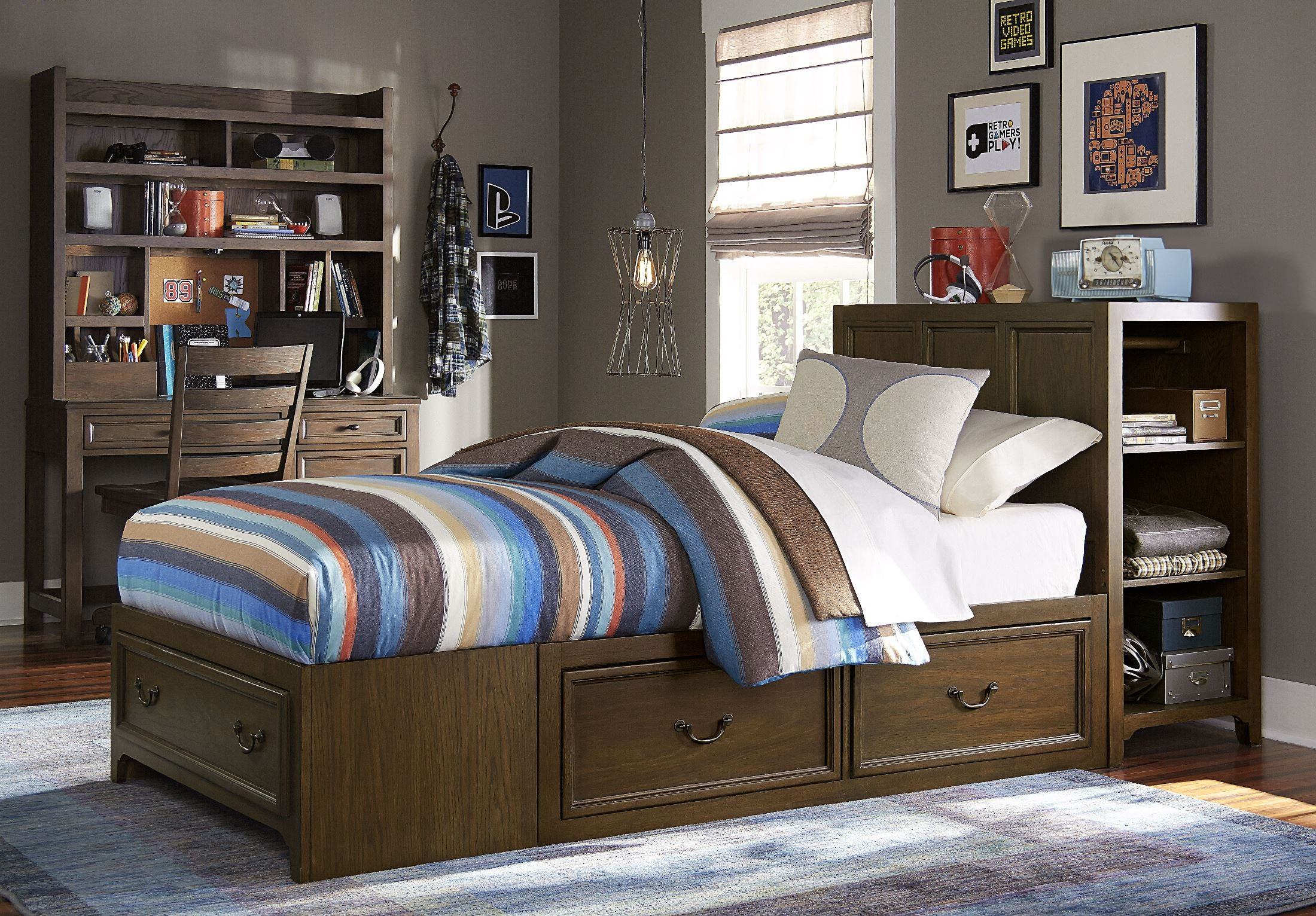 Kenwood Twin Super Storage Bed With One Side Storage From