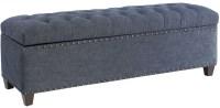 Indigo Fabric Storage Bench by Donny Osmond from Coaster ...