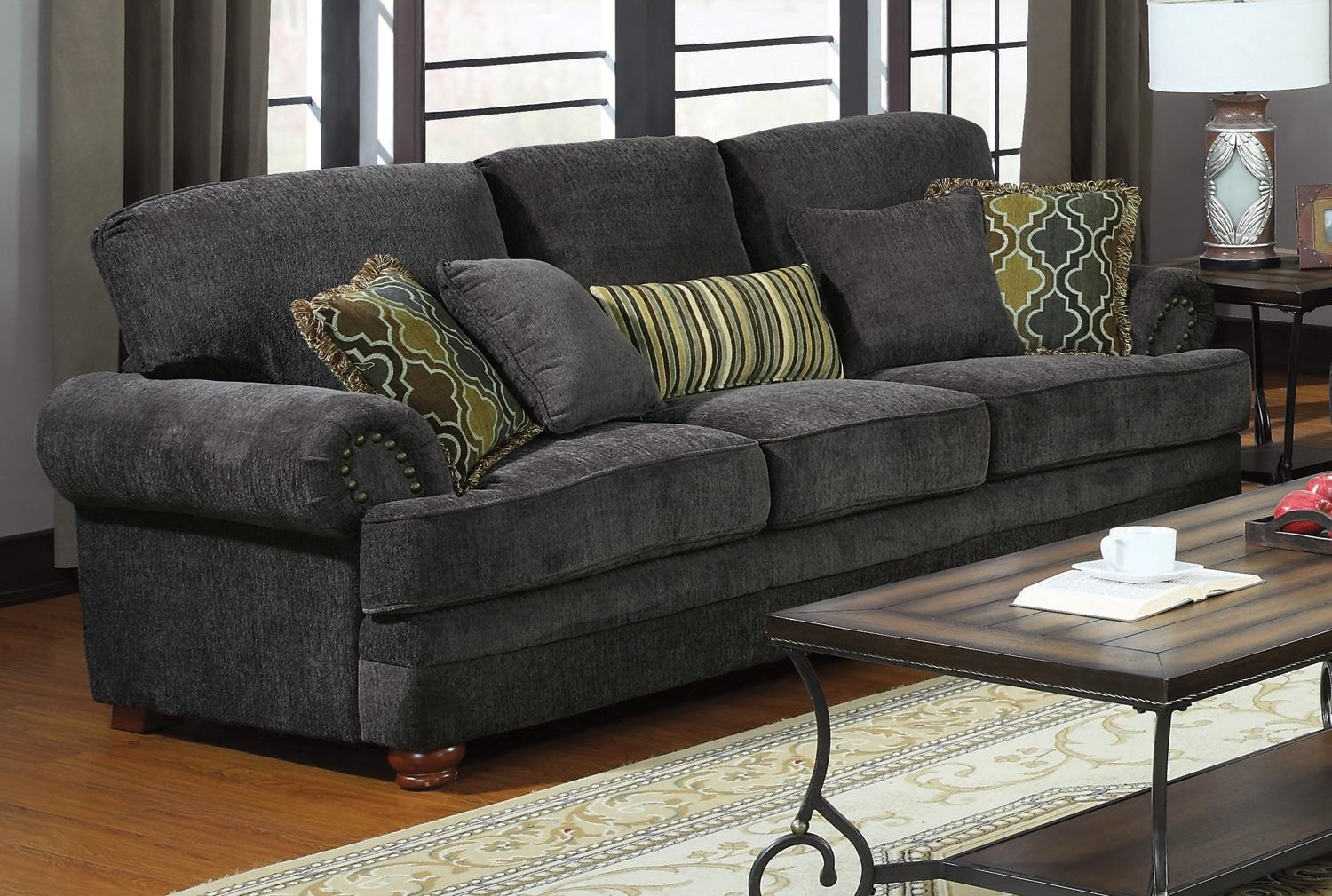 Sofa Set Grau Colton Grey Living Room Set From Coaster 504401