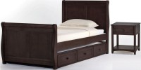 School House Chocolate Youth Sleigh Bedroom Set With ...