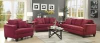 Samuel Red Living Room Set, 505185, Coaster Furniture