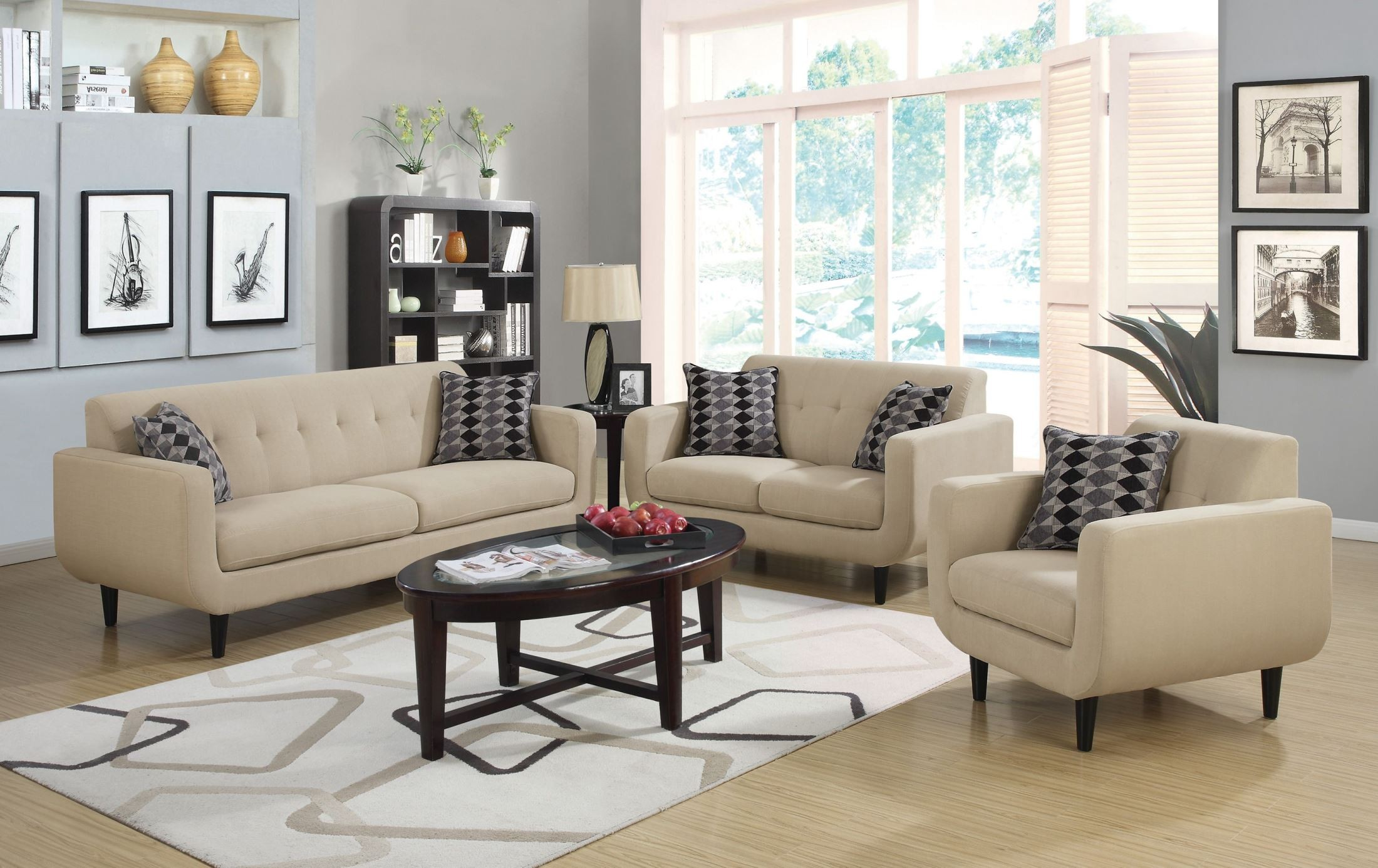Living Room Furniture Ivory Sofa Stansall Ivory Living Room Set From Coaster 505204