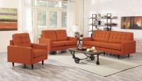 Kesson Orange Living Room Set, 505371, Coaster Furniture