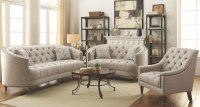 Avonlea Stone Grey Living Room Set from Coaster | Coleman ...