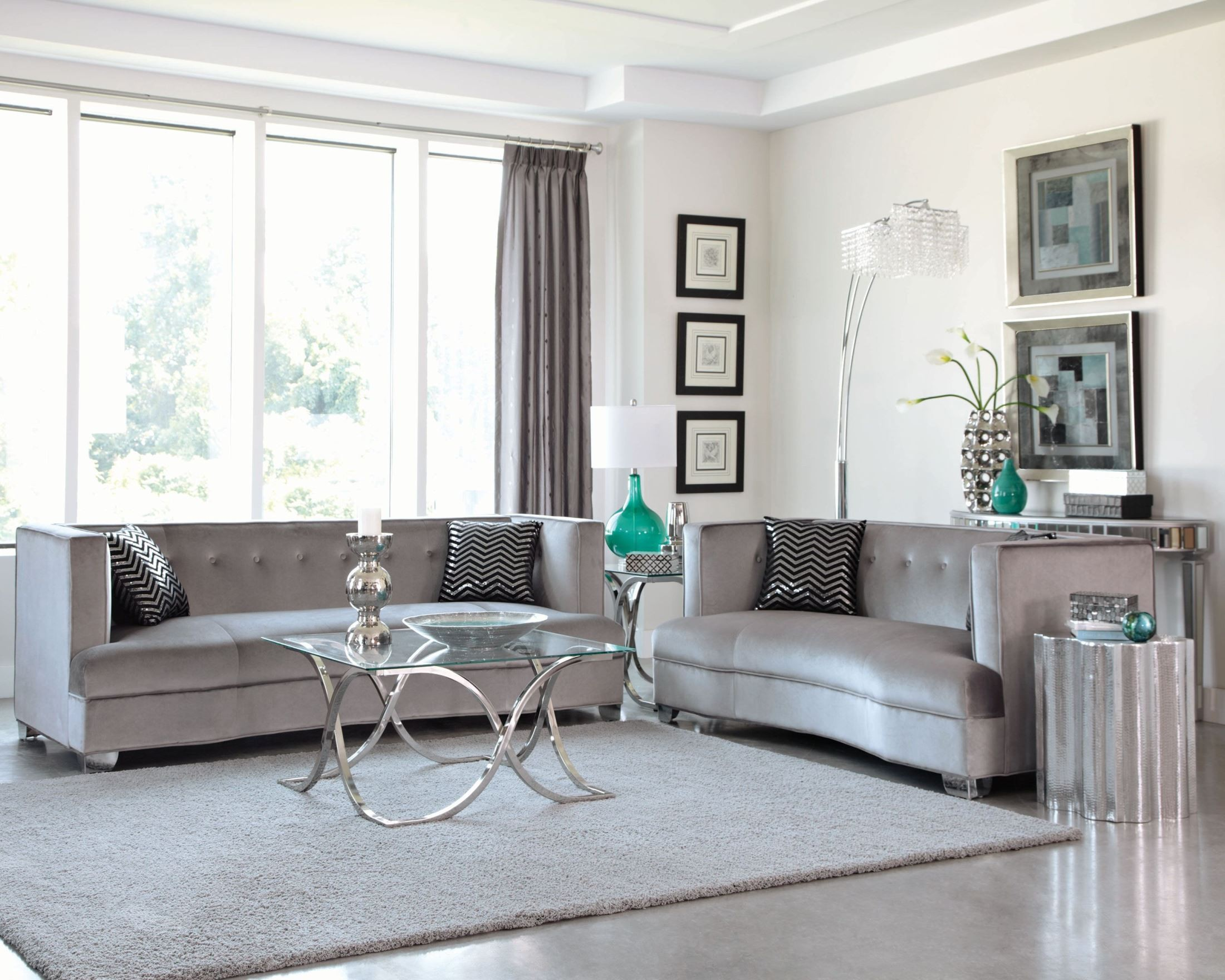 Silver Living Room Tables