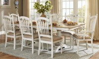 Hollyhock Distressed white Dining Room Set from ...