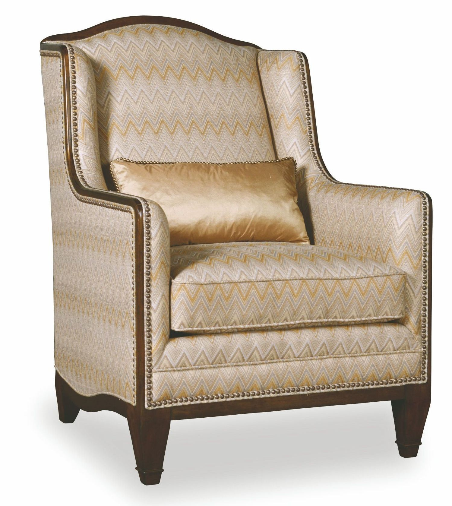 Ava Creme High Back Accent Chair From Art 513534 5001aa