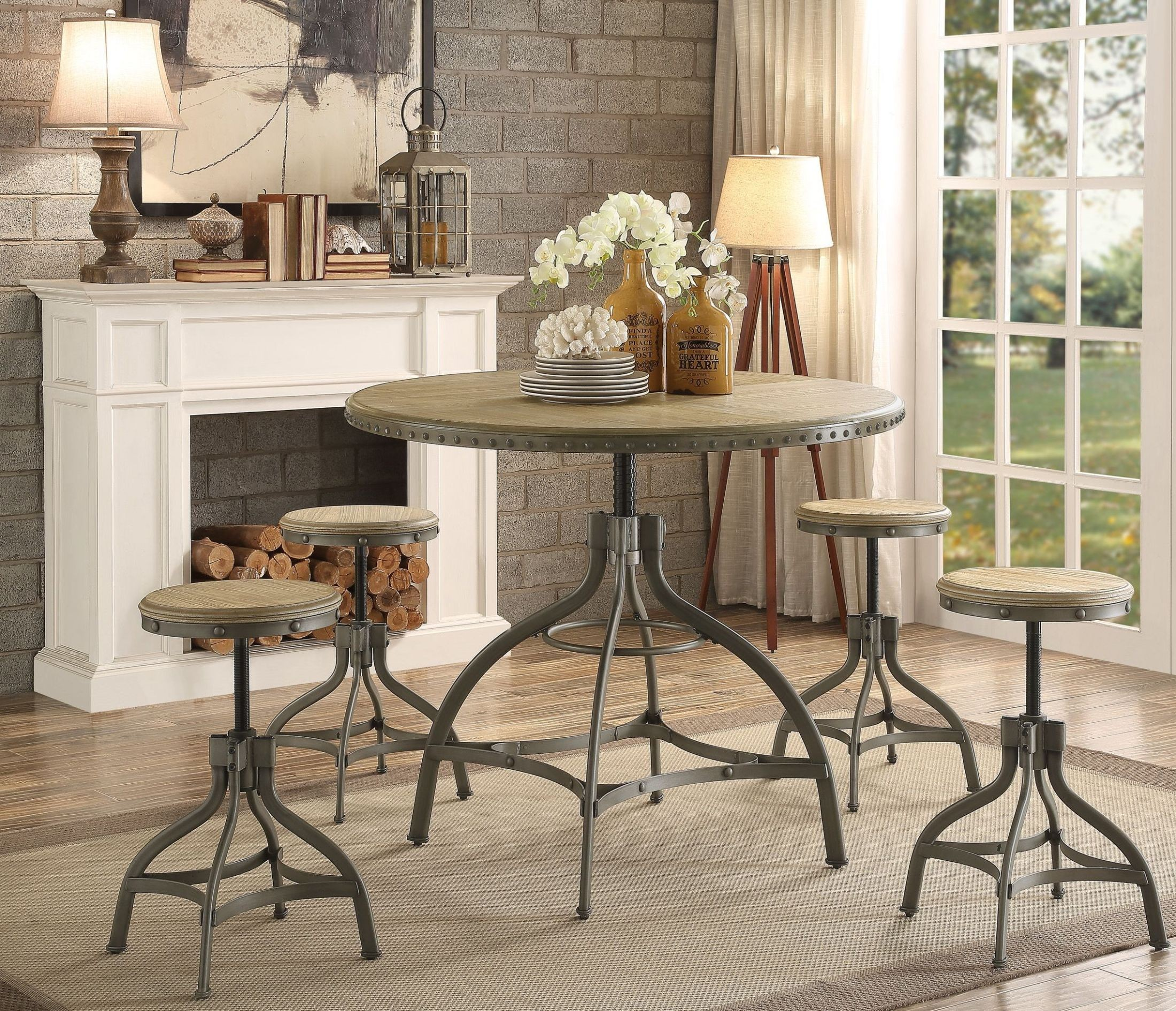 Adjustable Dining Table Set Beacher Round Adjustable Height Dining Room Set 5488 36rd