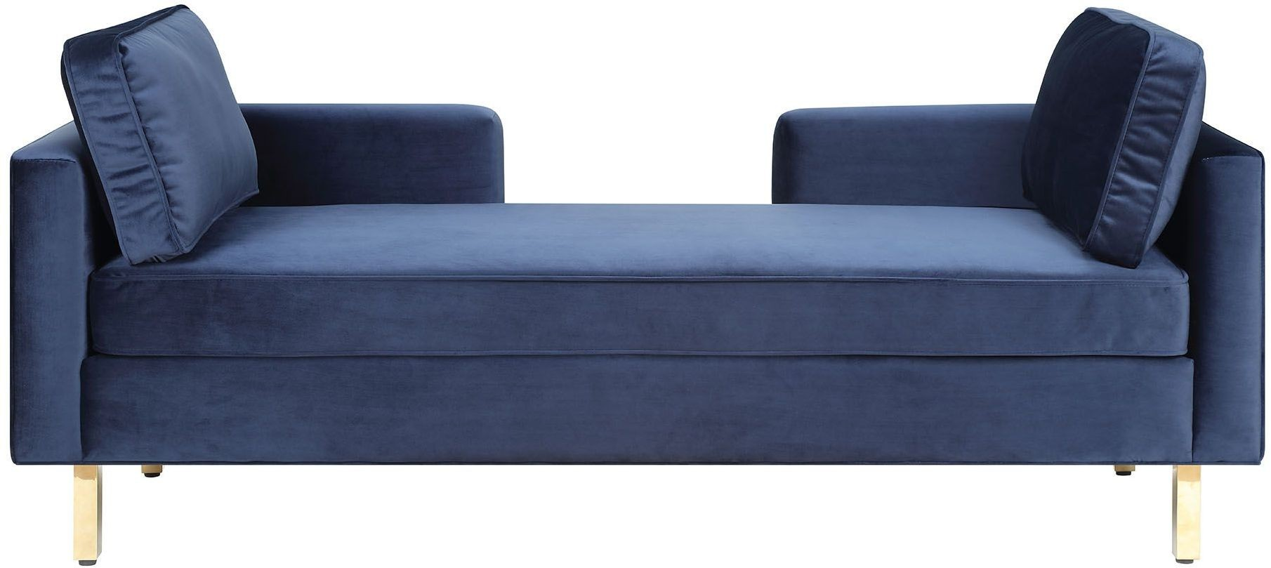 Chaise Navy Navy Double Chaise 550356 Coaster Furniture