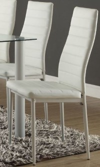 Florian White Side Chair Set of 2 from Homelegance ...