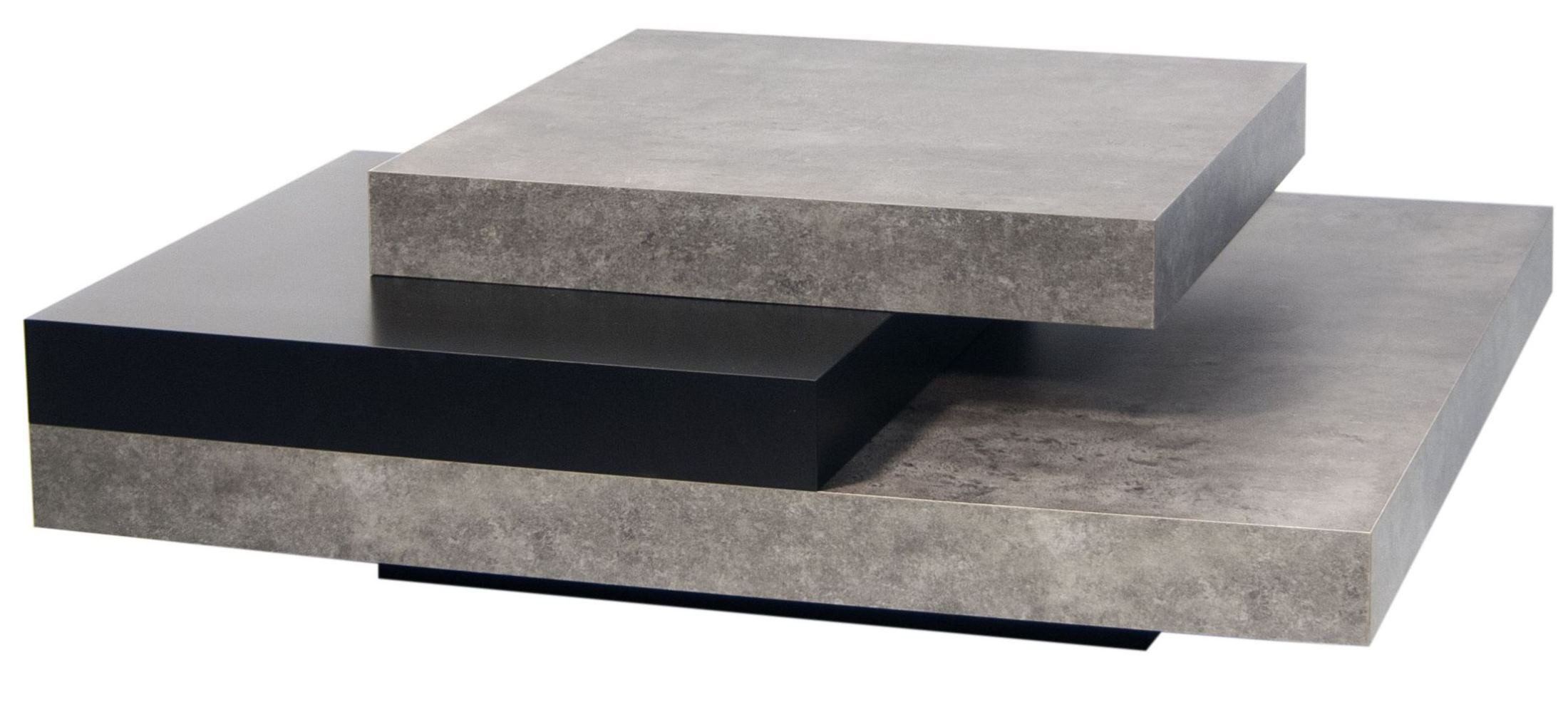 Couchtisch Oak Grey Slate Concrete And Pure Black Coffee Table From Tema Home