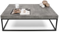 Petra Concrete Top Black Coffee Table, 9500.625138, Tema Home