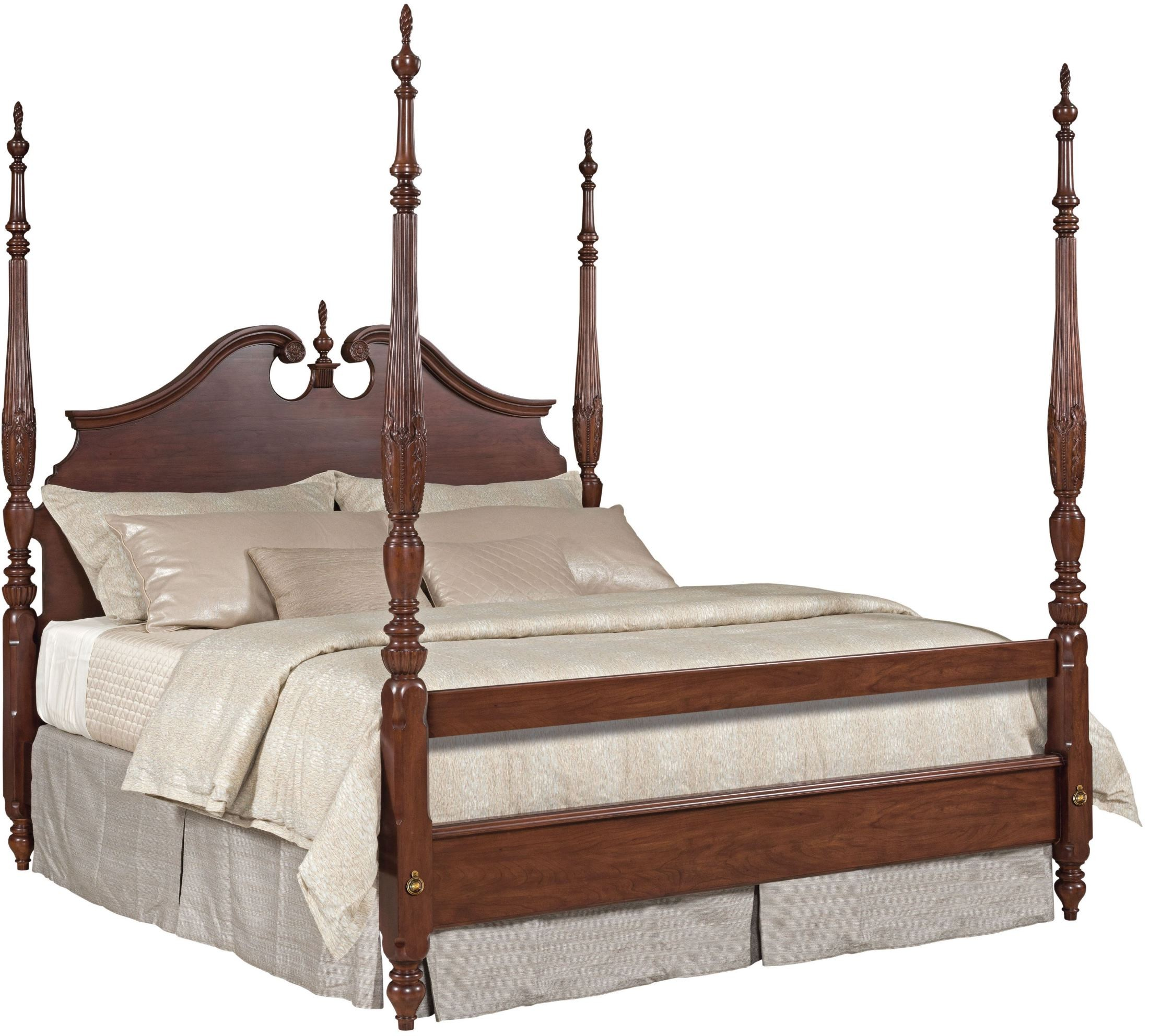 Four Poster Queen Size Bed Hadleigh Rice Carved King Poster Bed From Kincaid