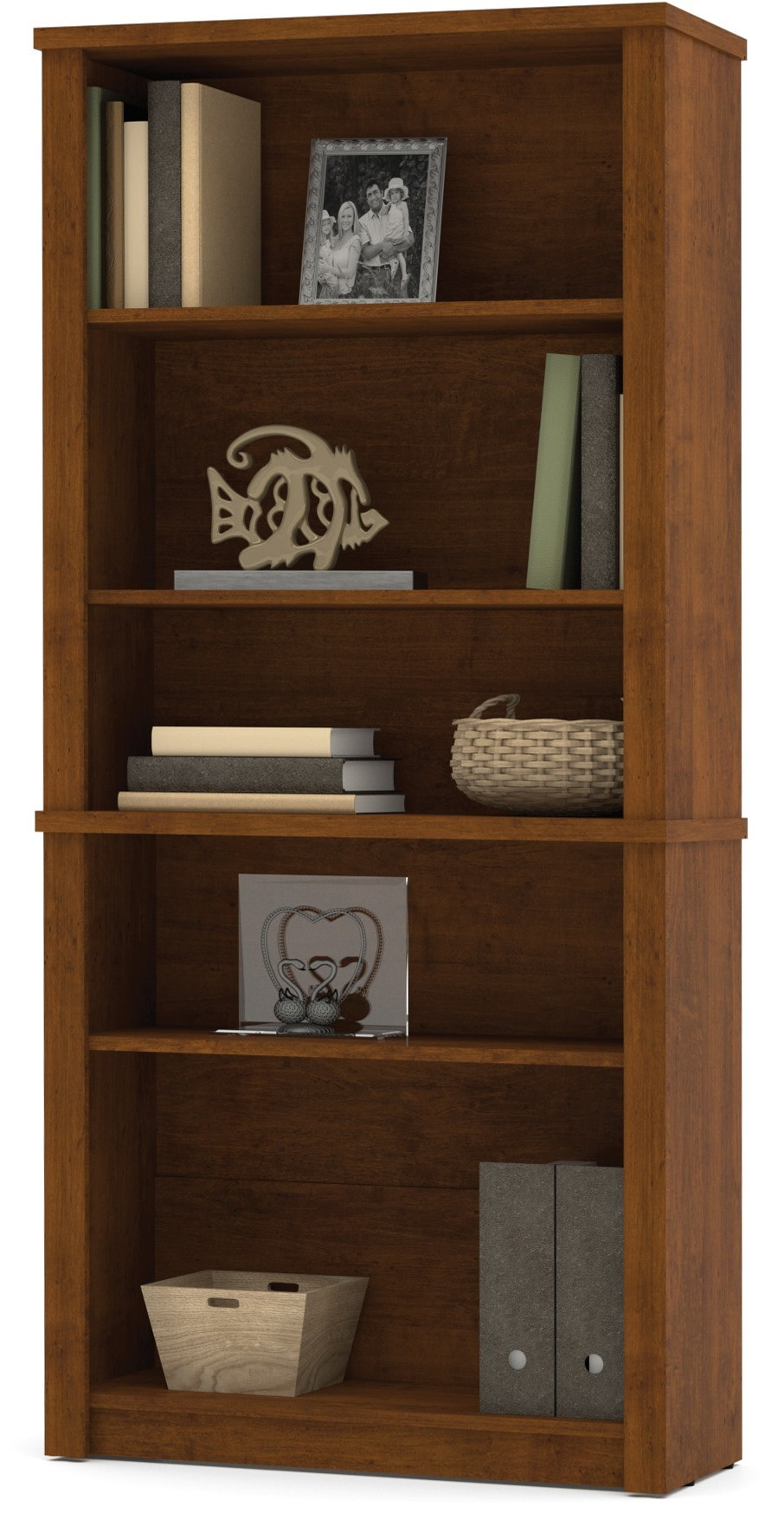 Embassy Modular Bookcase In Tuscany Brown From Bestar