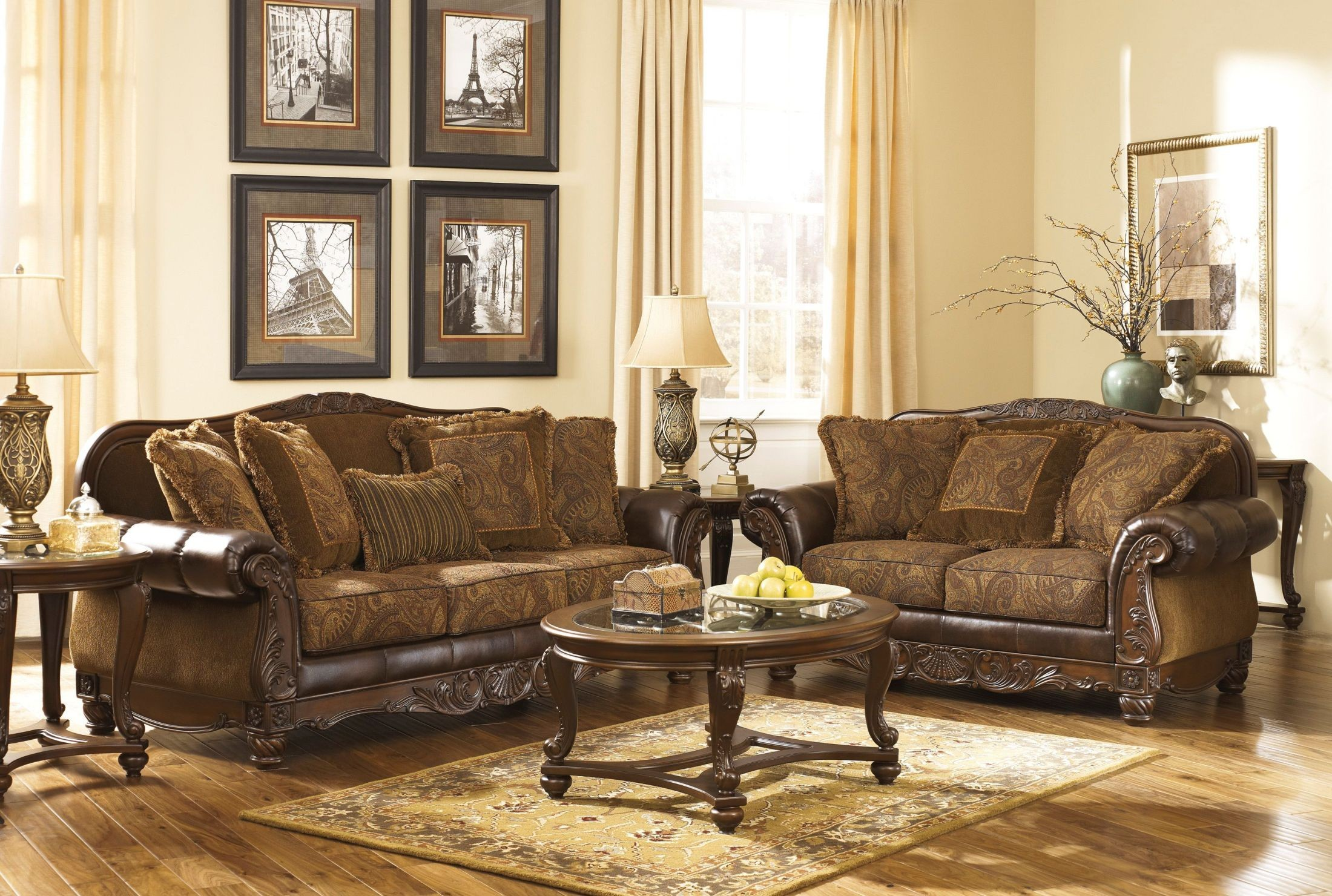 Sofa Set For Drawing Room With Price Fresco Durablend Antique Living Room Set From Ashley