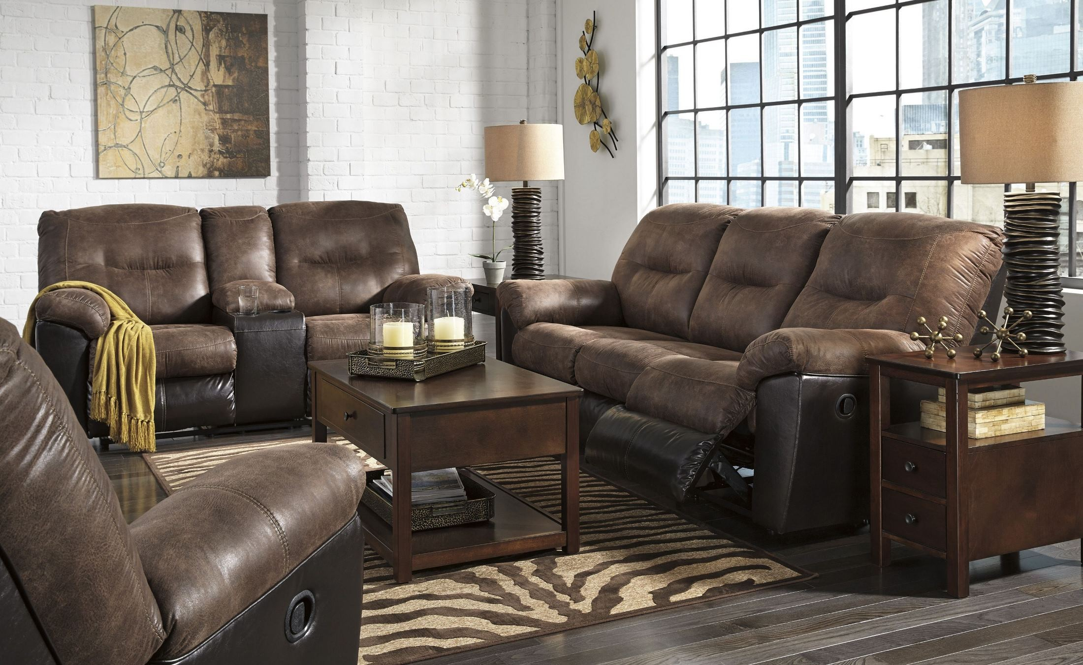 Sofa Set Price In Kannur Follett Coffee Reclining Sofa From Ashley Coleman Furniture