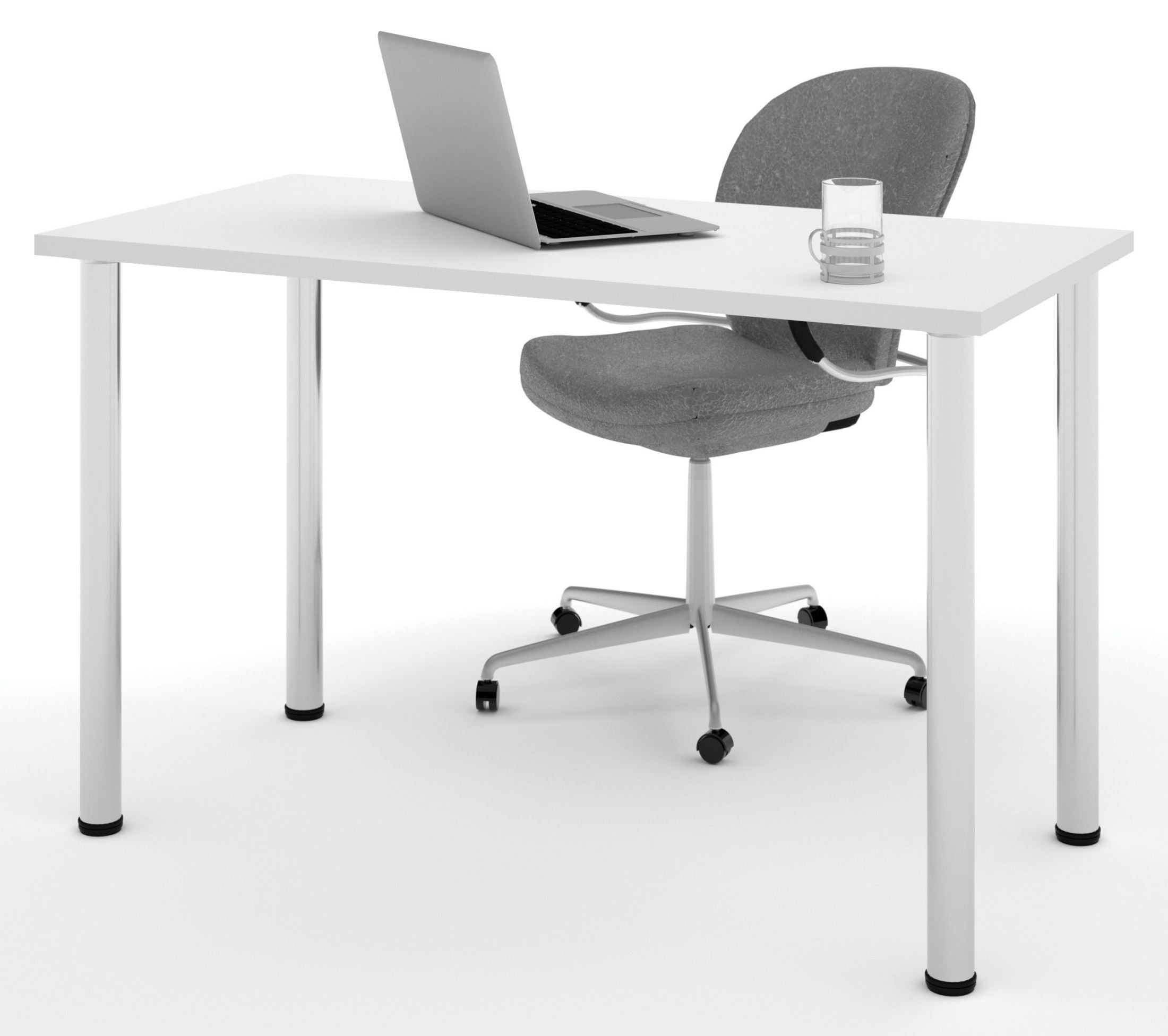 Metal Leg Desk 48 Quot White Round Metal Leg Table From Bestar 65852 17