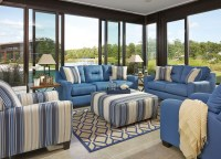 Forsan Nuvella Blue Living Room Set from Ashley | Coleman ...