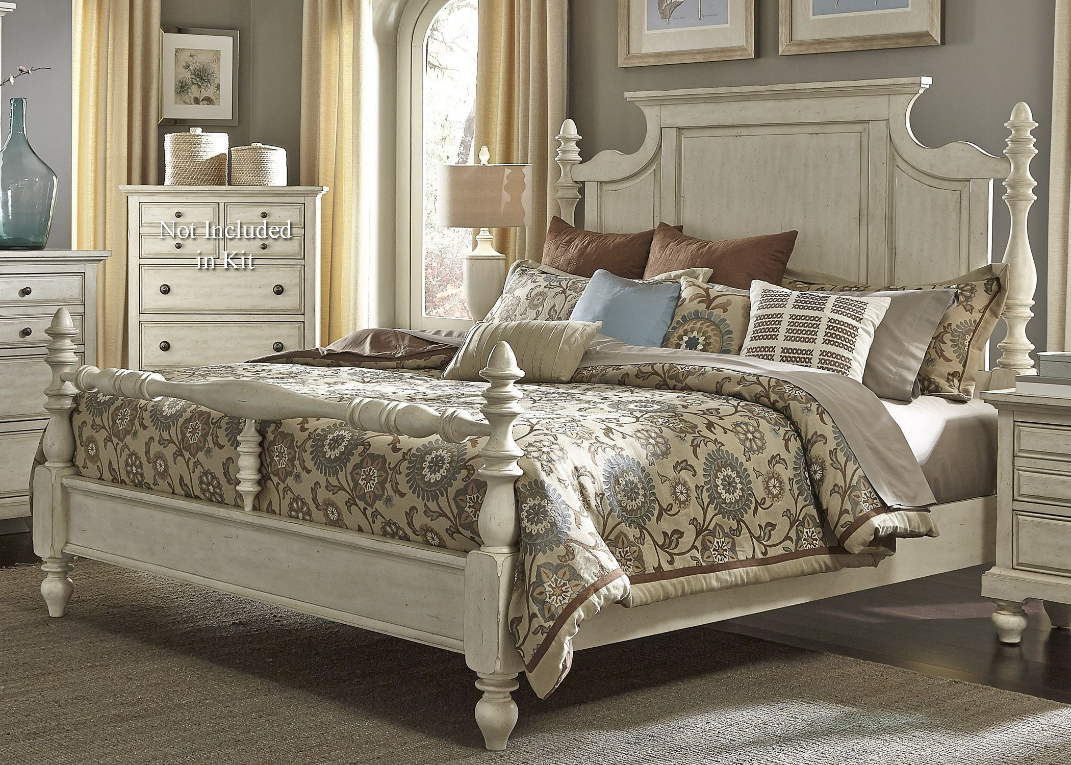 High Poster Bed King High Country White King Poster Bed From Liberty 697 Br
