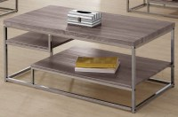 703728 Weathered Grey Coffee Table from Coaster (703728 ...