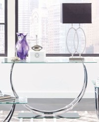 Chrome Glass Top Sofa Table, 704989, Coaster Furniture