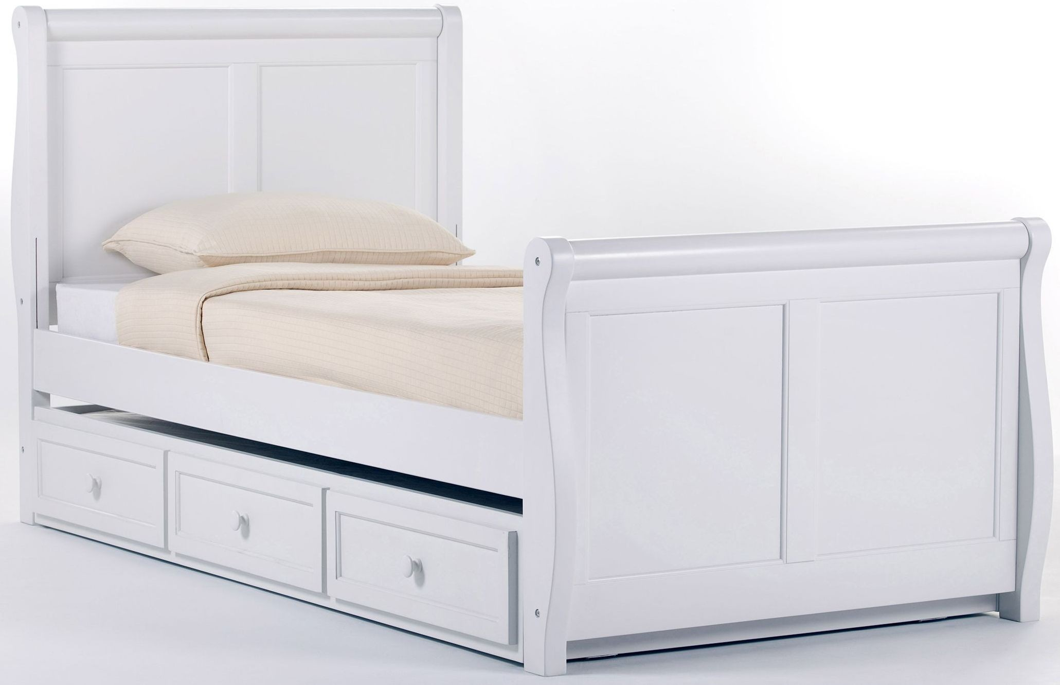 White Trundle Bed School House White Twin Sleigh Bed With Trundle From Ne