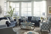 LaVernia Navy Living Room Set from Ashley | Coleman Furniture