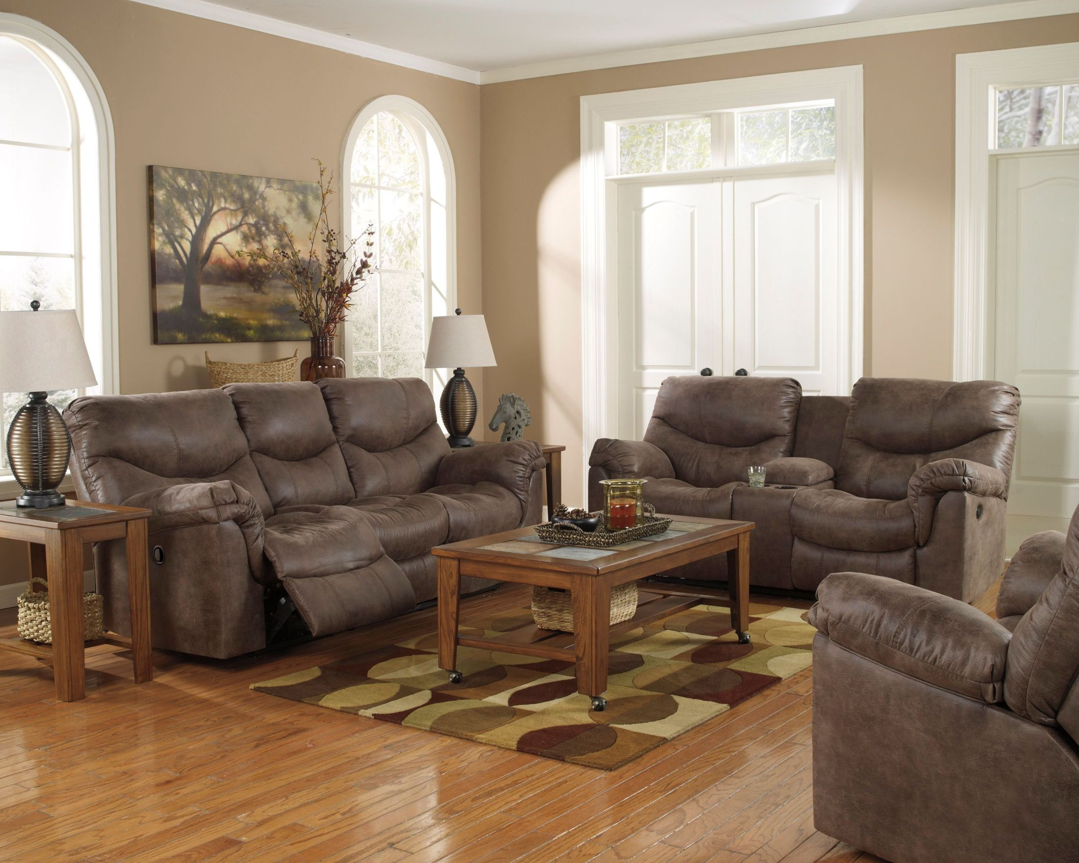 Comfortable Den Furniture Alzena Reclining Living Room Set From Ashley 71400 88 94