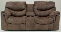 Alzena Double Reclining Loveseat with Console from Ashley ...